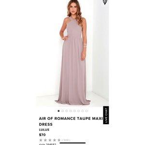 Lulus Air of Romance Taupe Purple Maxi Dress